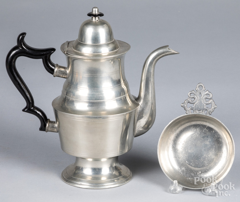 George Richardson pewter coffee pot