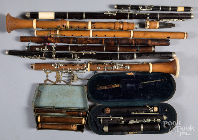 Group of early musical instruments