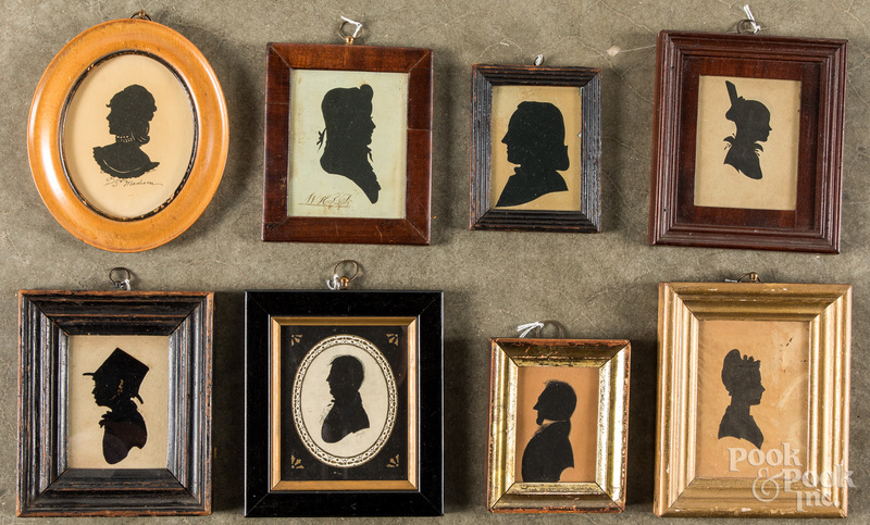 Eight silhouettes, 19th/20th c.