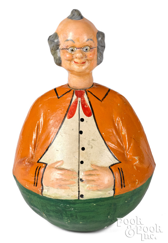 Schoenhut composition Foxy Grandpa rolly dolly