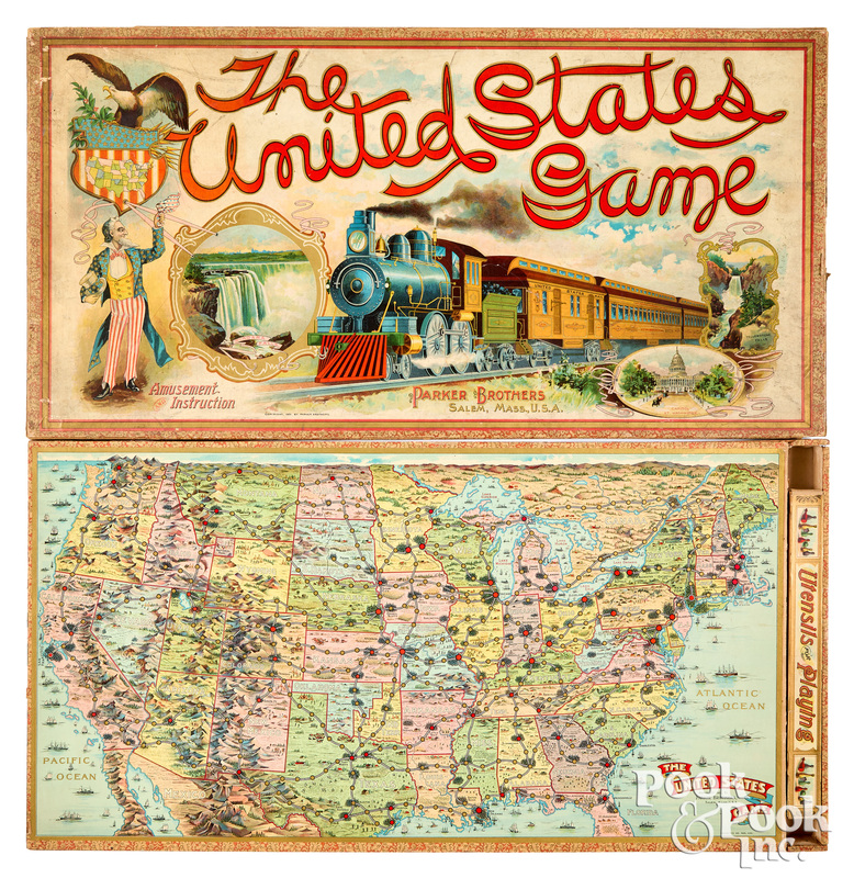 Parker Bros. The United States Game, ca. 1901