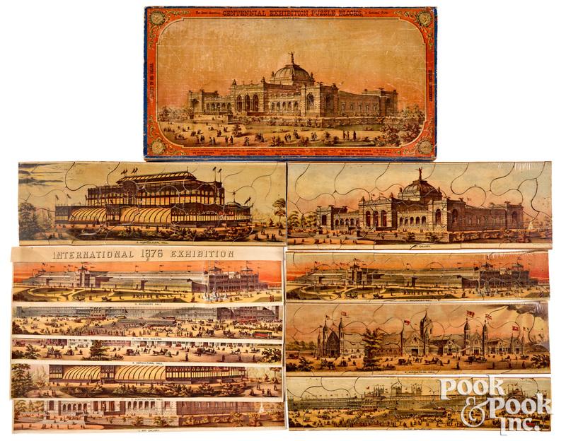 Centennial Exhibition Puzzle Blocks, pat. 1875