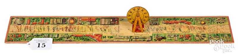 1893 Chicago World's Fair board, scarce