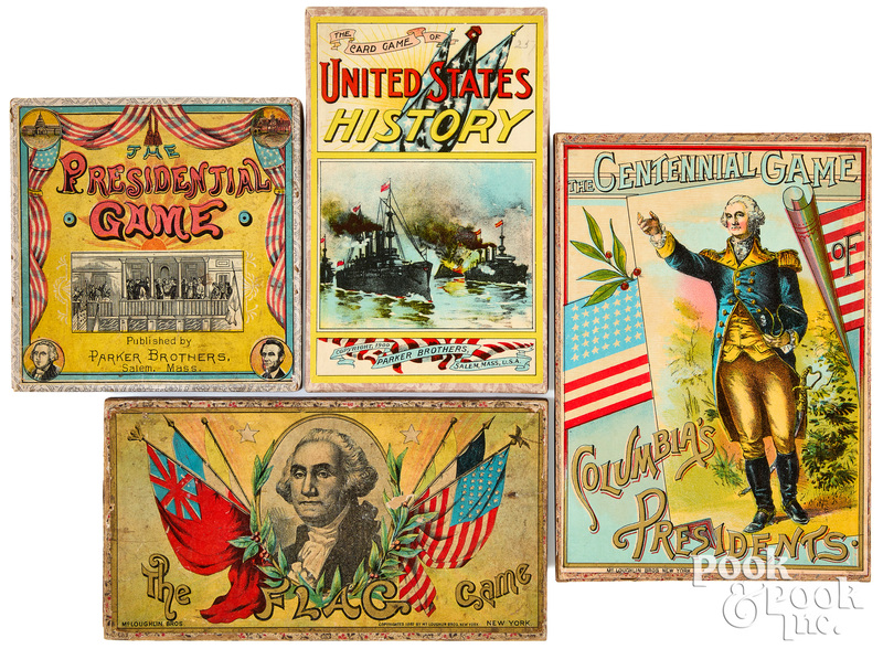 Four U. S. History Games, ca. 1900