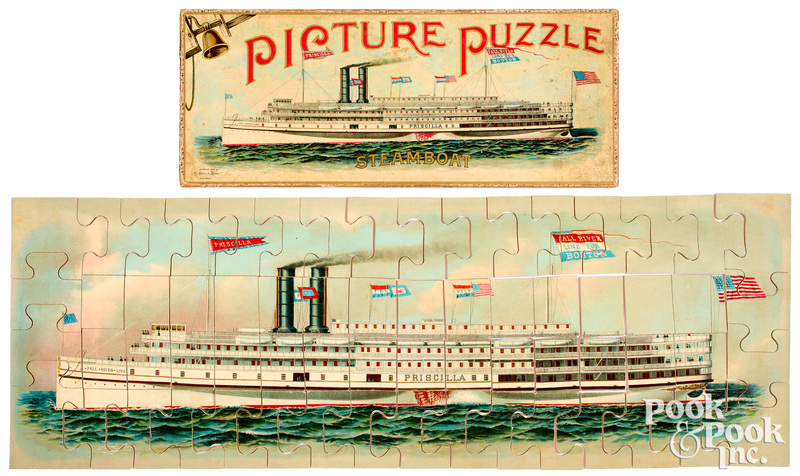 McLoughlin Bros. Picture Puzzle Steamboat