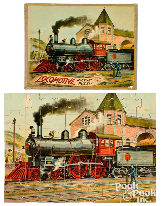 McLoughlin Bros. Locomotive Picture Puzzle