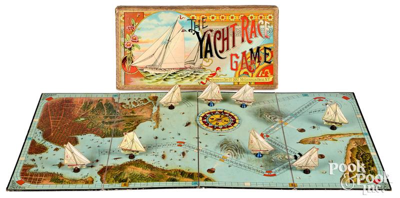 McLoughlin Bros. Yacht Race Game, ca. 1887
