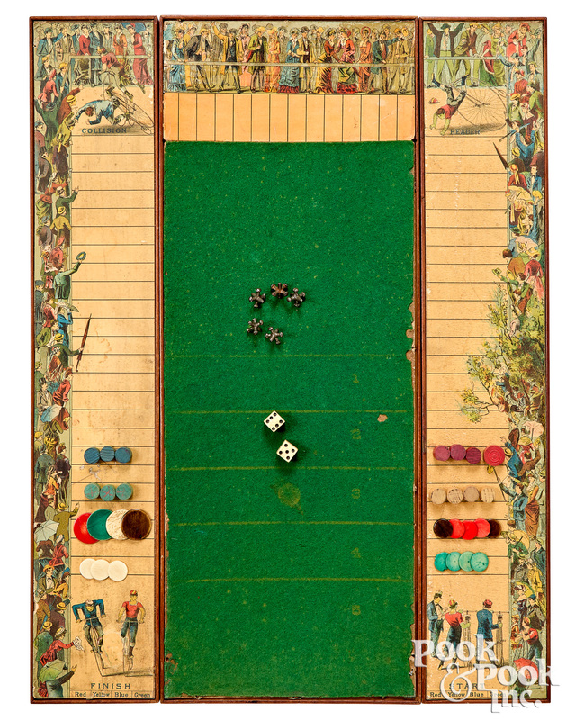 Combination Bicycle Race Game, ca. 1890