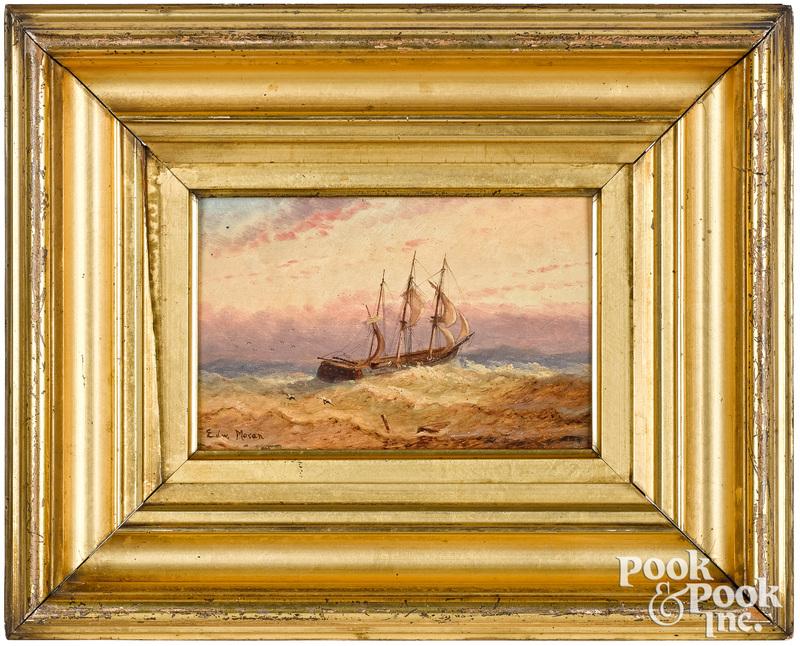Edward Moran oil on panel seascape