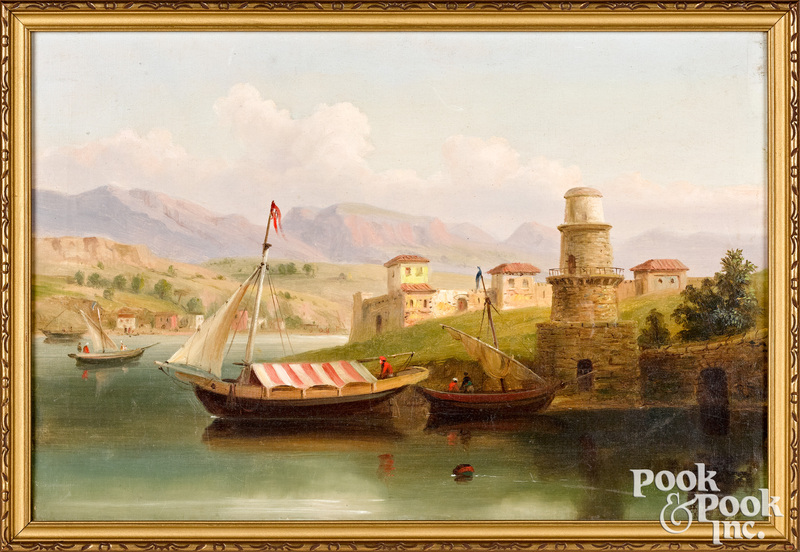 Russell Smith oil on canvas titled Near Toulon