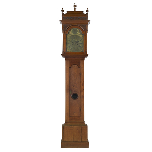 Important Benjamin Chandlee, Chester County, Pennsylvania Queen Anne walnut tall case clock