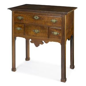 Rare Southern Chippendale walnut server, ca. 1770, probably Virginia, 37'' h., 34'' w.