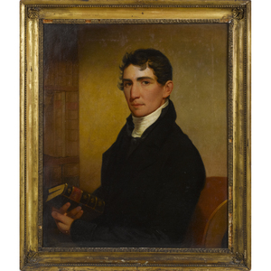 Jacob Eicholtz (American 1776-1842), oil on canvas portrait of the Reverend James Ross Reily