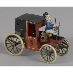 Lehmann tin lithograph clockwork Kutsche motor car