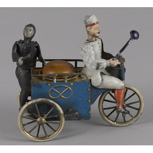 Lehmann tin lithograph clockwork baker and chimney