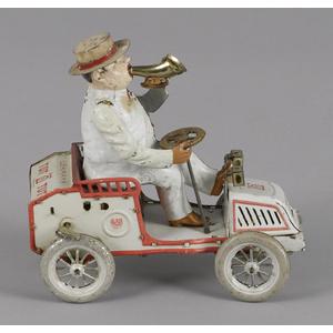 Lehmann tin lithograph clockwork Tut Tut car with