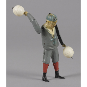 Gunthermann hand painted tin clockwork ball twirli