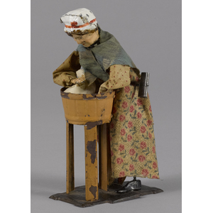 Ferdinand Martin hand painted tin clockwork womana
