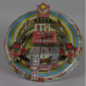 Marx tin lithograph wind-up New York city expressi