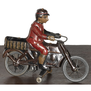 Fischer tin lithograph wind-up motorcycle, 6