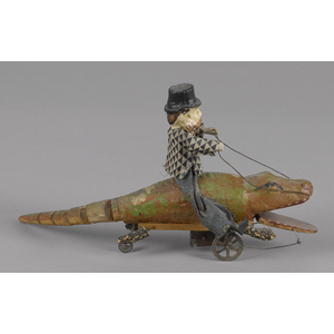 Unusual German composition and wood man riding anl