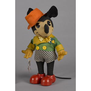 Knickerbocker Toy Co. Mickey Mouse cloth doll, ca.