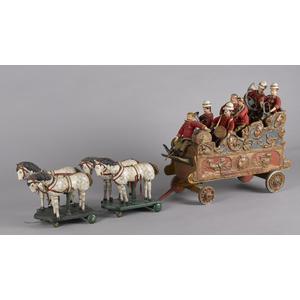 Schoenhut Humpty Dumpty circus parade band wagon w