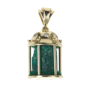 Large and important natural emerald salvaged from Nuestra Senora de Atocha