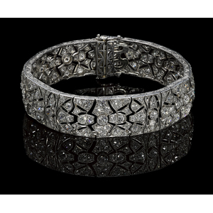 Platinum and diamond Art Deco bracelet, ca. 1920,i