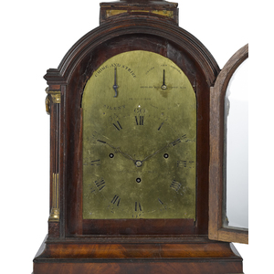 Georgian mahogany musical bracket clock, late, 18t