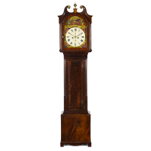Scottish mahogany tall case clock, ca. 1800, withi
