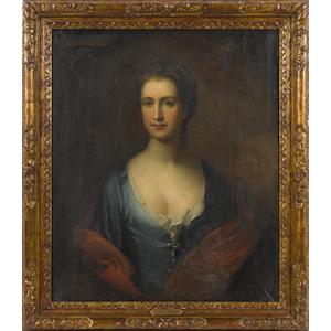 English school, ca. 1800, oil on canvas portrait o