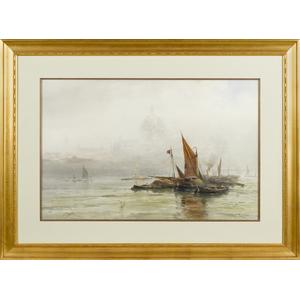 Frank F. English (American 1854-1922), watercolori