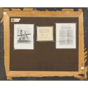 John English (American, b. 1913,) oil on board shi