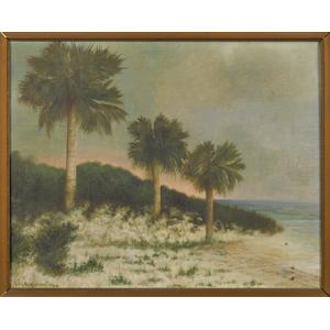 Ben Austrian (American 1870-1921), oil on canvas F