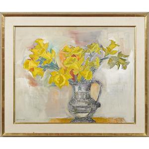 Hans Moller (American 1905-2000), oil on canvas st