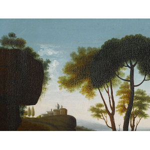 Edward Hicks (American 1780-1849), oil on canvas l