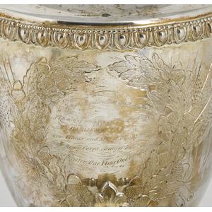 Civil War silver-plated presentation hot water urn