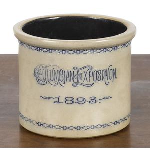 New York souvenir crock, inscribed Columbian Expos
