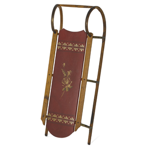 Painted sled, late 19th c., retaining its original