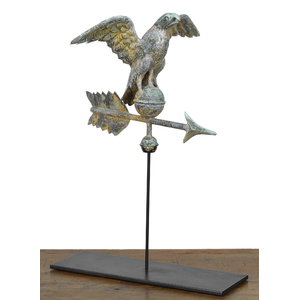 Diminutive copper eagle weathervane, late 19th c.,