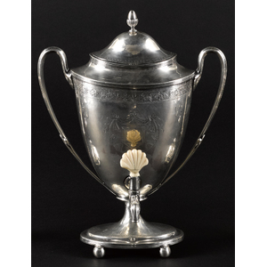 Georgian silver hot water urn, 1798-1799
