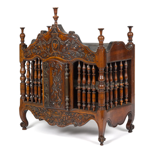French walnut panetiere, ca. 1800