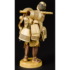 Japanese Meiji period carved ivory figure