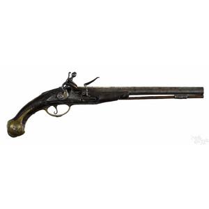European flintlock pistol, approximately .60 calib
