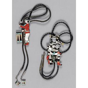Zuni Native American silver jester bolo tie