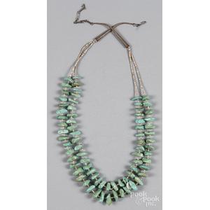Santo Domingo Pueblo turquoise heishi necklace