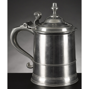 Boston, Massachusetts pewter tankard, ca. 1750, be