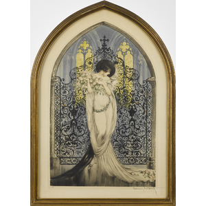 Louis Icart signed drypoint etching, dated 1928, t