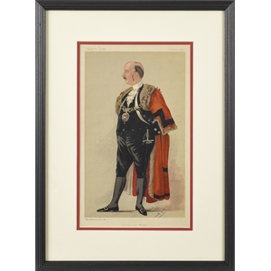 Spy Vanity Fair lithograph, dated 1890, of a New L